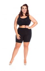 BLACK SHORT LEG ANTI-CHAFING SHORTS