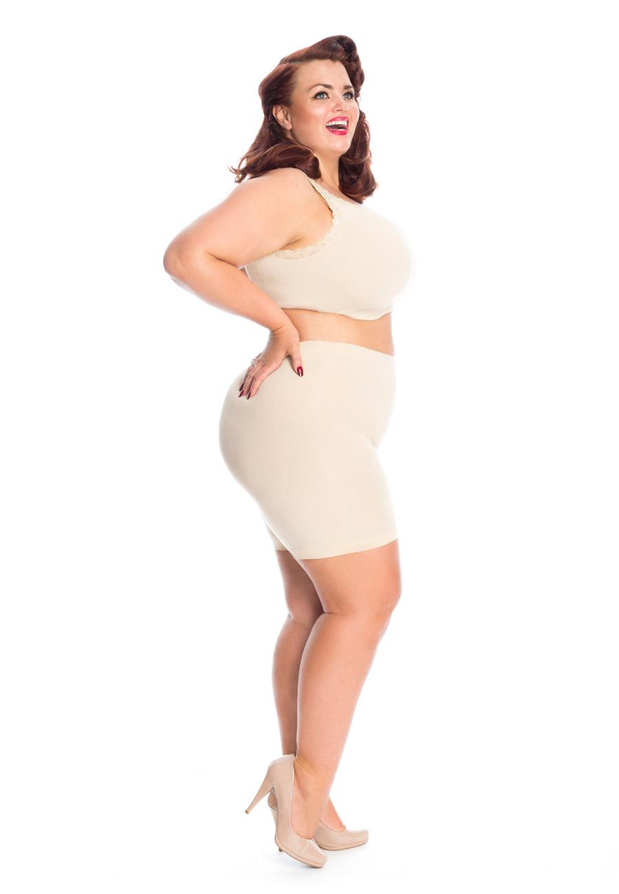 5d6c17341b3ad All Woman Anti Chafing Short Leg Slip Shorts - The Big Tights Company