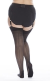 SEAMED STOCKINGS PLUS SIZE PICTURE 1
